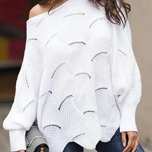 Women's Pullover Batwing Sleeve Knit Sweater